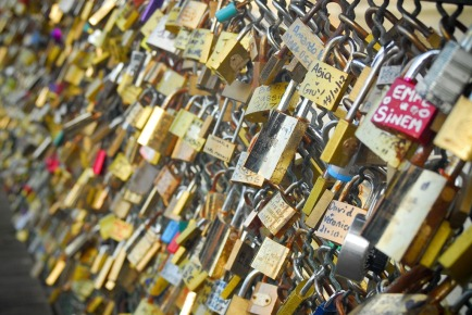 Love Lock Bridge - Paris, France