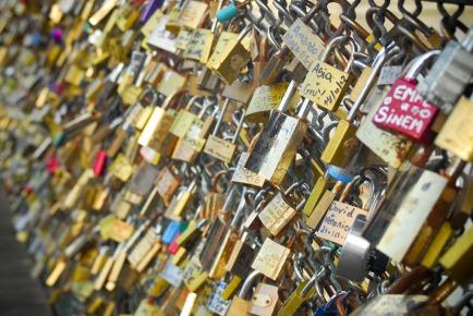 Love Lock Bridge - Paris, France